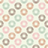 Polka dot seamless pattern. Geometric background. The colorful balls. Scribble texture. Тextile rapport Stock Photo