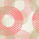 Polka dot seamless pattern. Geometric background. The colorful balls. Scribble texture. Тextile rapport Royalty Free Stock Image