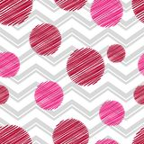 Polka dot seamless pattern. Geometric background. The colorful balls. Scribble texture. Тextile rapport Stock Image