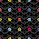 Polka dot seamless pattern. Geometric background. The colorful balls. Scribble texture. Тextile rapport Stock Images