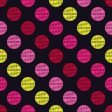 Polka dot seamless pattern. Geometric background. The colorful balls. Scribble texture. Тextile rapport royalty free illustration