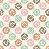 Polka dot seamless pattern. Geometric background. The colorful balls. Scribble texture. Тextile rapport Royalty Free Stock Photography