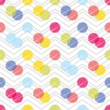 Polka dot seamless pattern. Geometric background. The colorful balls. Scribble texture. Тextile rapport Stock Photography