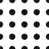 Polka dot seamless pattern. Geometric background. Dots, circles and buttons. Тextile rapport Royalty Free Illustration