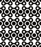 Polka dot seamless pattern, geometric figures, black Royalty Free Stock Image
