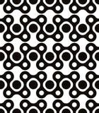 Polka dot seamless pattern, geometric figures, black. Polka dot seamless pattern with rounded geometric figures, black and white infinite twisted mosaic Royalty Free Stock Image