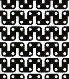Polka dot seamless pattern with geometric figures, black and whi Royalty Free Stock Image