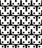 Polka dot seamless pattern with geometric figures, black and whi Royalty Free Stock Photo
