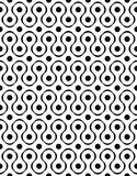 Polka dot seamless pattern with geometric figures vector illustration