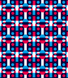 Polka dot seamless pattern with geometric figures, colorful infi Royalty Free Stock Photos