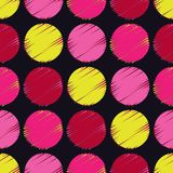 Polka dot seamless pattern. Halftone. Geometric background. The colorful balls. Тextile rapport Stock Photos