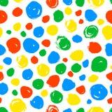 Polka dot seamless pattern. Hand drawn artistic ink circles. Royalty Free Stock Photo