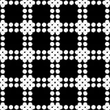Polka dot seamless pattern. Hand hatching. Brushwork. Halftone. Geometric background. Scribble texture. Тextile rapport stock illustration