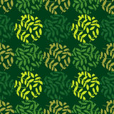 Polka dot seamless pattern. Leaves texture. Textile rapport Royalty Free Stock Photos