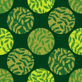 Polka dot seamless pattern. Leaves texture. Textile rapport Stock Photo