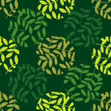 Polka dot seamless pattern. Leaves texture. Textile rapport Royalty Free Stock Image
