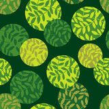 Polka dot seamless pattern. Leaves texture. Textile rapport Stock Images