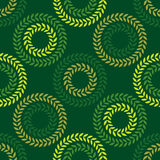 Polka dot seamless pattern. Leaves texture. Textile rapport Royalty Free Stock Images