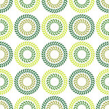 Polka dot seamless pattern. Leaves texture. Textile rapport Stock Photography