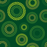 Polka dot seamless pattern. Leaves texture. Textile rapport Stock Image