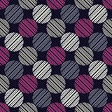 Polka dot seamless pattern. Manual hatching. Geometric background. The colorful balls. Scribble texture. Тextile rapport Stock Photo
