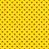 Polka dot seamless pattern, old paper texture. Royalty Free Stock Photos