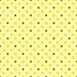 Polka dot seamless pattern, old paper texture. Stock Images