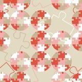Polka dot seamless pattern. Puzzle texture. Textile rapport Royalty Free Stock Photos