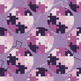 Polka dot seamless pattern. Puzzle texture. Textile rapport Royalty Free Stock Image