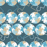 Polka dot seamless pattern. Puzzle texture. Textile rapport Stock Image