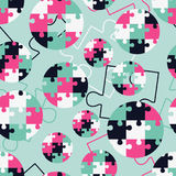 Polka dot seamless pattern. Puzzle texture. Textile rapport Stock Photo