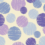 Polka dot seamless pattern. Scratch texture. Stock Photography