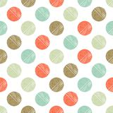 Polka dot seamless pattern. Scribble texture. Stock Images