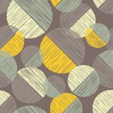 Polka dot seamless pattern. Scribble texture. Royalty Free Stock Images