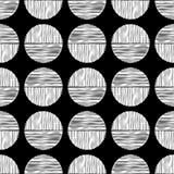 Polka dot seamless pattern. Scribble texture. Stock Image