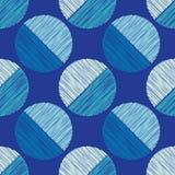 Polka dot seamless pattern. Scribble texture. Royalty Free Stock Photo