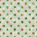 Polka Dot Seamless pattern. Seamless plants texture. stock illustration