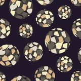 Polka dot seamless pattern. Spots texture. 3D balls. Textile rapport Royalty Free Stock Photos