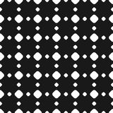 Polka dot seamless pattern, in square geometric grid. Polka dot seamless pattern, vector black & white subtle dotted texture. Abstract monochrome background with Stock Photography