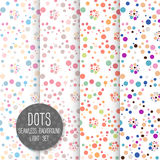 Polka Dot Seamless pattern. Vector background. Neutral light set Royalty Free Stock Photo