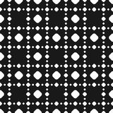 Polka dot seamless pattern, vector black & white subtle dotted t. Exture. Abstract monochrome background with big and small circles in square geometric grid Stock Images