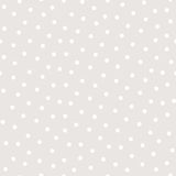 Polka dot seamless pattern. Vector monochrome subtle texture in soft pastel colors, white & beige. Abstract repeat background with randomly scattered circles Stock Photography
