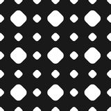 Polka dot seamless pattern, vector subtle texture, black and whi Stock Image
