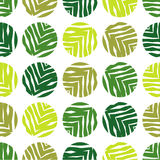 Polka dot seamless pattern on a white background. The texture of green leaves. Textile rapport Stock Image