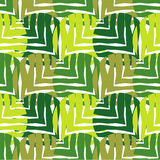 Polka dot seamless pattern on a white background. The texture of green leaves. Textile rapport Royalty Free Stock Photography