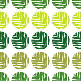 Polka dot seamless pattern on a white background. The texture of green leaves. Textile rapport Royalty Free Stock Photo