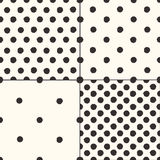 Polka dot seamless patterns set Royalty Free Stock Photography