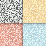 Polka dot seamless patterns set Stock Images