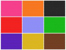 Polka Dot Set Royalty Free Stock Images