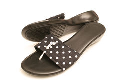 Polka dot shoes on white 2 Royalty Free Stock Photos